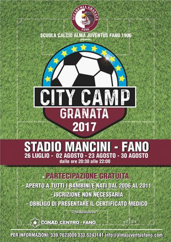 Al via i City Camp dell'Almas Juventus Fano 2017