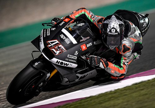 Aprilia Racing Team: conclusa la prima giornata di test in Qatar