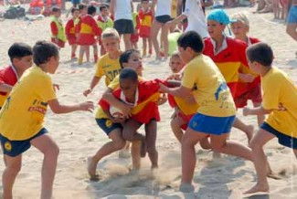 Beach rugby e solidariet da domani in baia flaminia