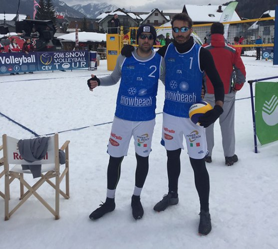 Il team powerbeach Lupatelli/Maines accede al master finale del campionato europeo di snow volley