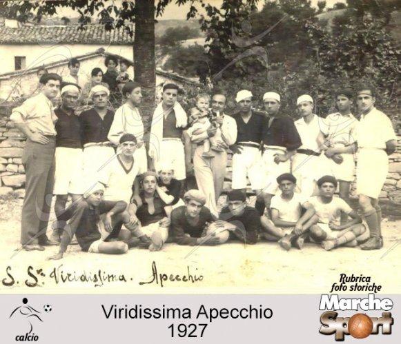 FOTO STORICHE - Viridissima Apecchio 1927