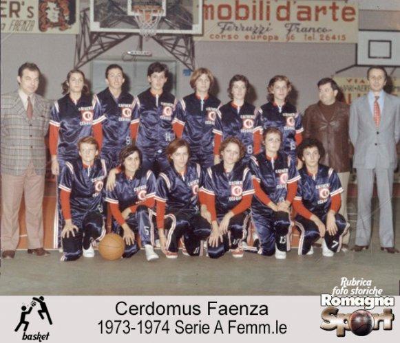 FOTO STORICHE - Cerdomus Faenza 1973/74