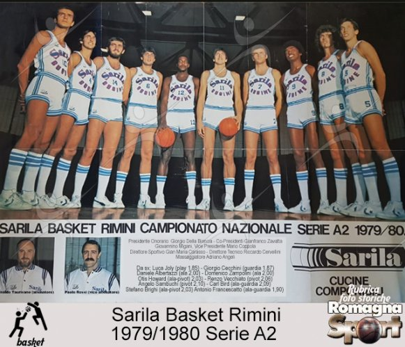 FOTO STORICHE - Sarila Basket Rimini 1979-80