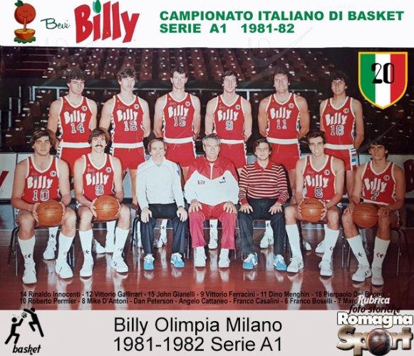 FOTO STORICHE - Billy Milano 1981-82