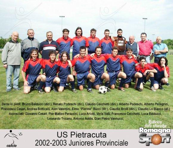 FOTO STORICHE - Pietracuta Juniores 2002-03