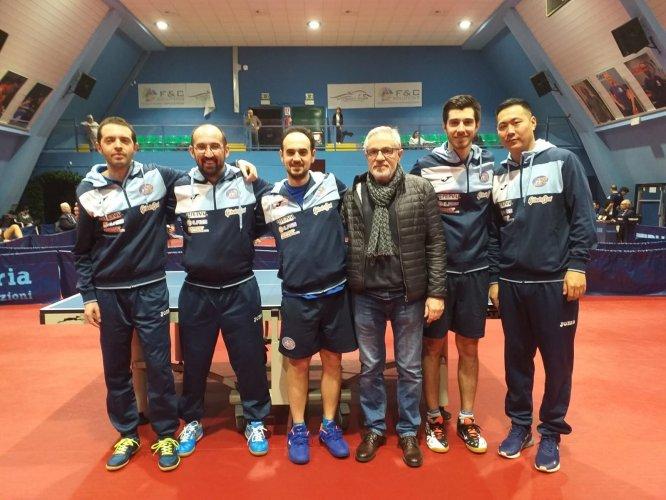 Tennistavolo, il Reggio Emilia Ferval sbanca Milano e difende la vetta in A2.