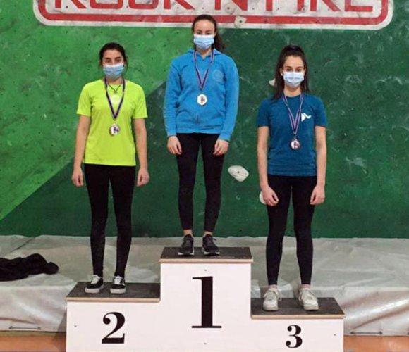 Giulia randi campionessa regionale U20 di Boulder