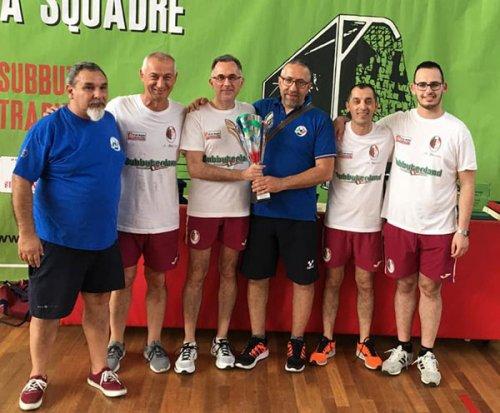 La f.lli Bari Sporting Club Reggio Emilia fa vince il girone a della serie C di subbuteo