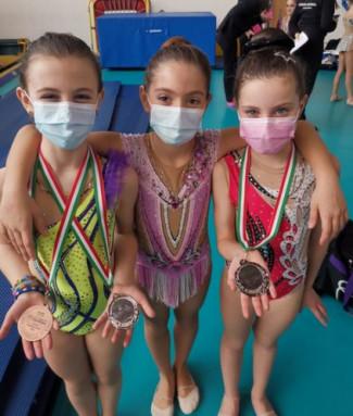 Ottimi risutati di Mya Gym al campionato regionale UISP di ginnastica ritmica