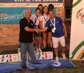 Pattinaggio freestyle al C.O.N.I kinder: medaglia di bronzo all'Emilia Romagna con la Rollerverucchio