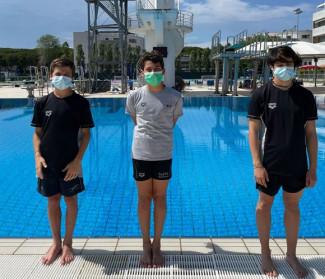Tuffi Polisportiva Riccione, tre atleti staccano il pass per i Campionati Nazionali