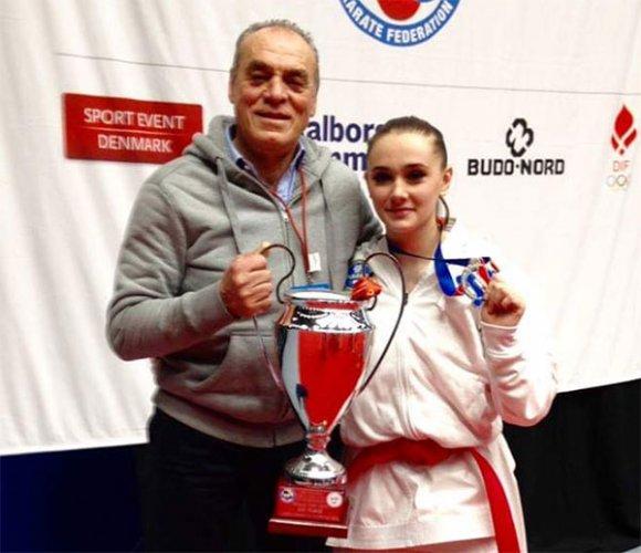 Matilde Galassi del Centro Karate Riccione è argento a squadre con la Nazionale Italiana Junior agli Europei in Danimarca