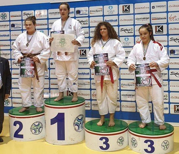 Morgana De Paoli argento al Campionato Italiano Esordienti B Fijlkam al PalaPellicone di Ostia