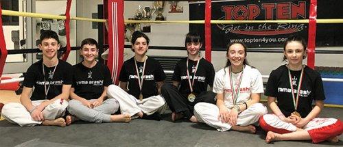 Kickxboxing, quattordici medaglie per la Yama Arashi a Mareno di Piave