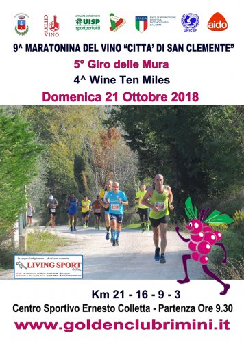 Domenica la Maratonina del Vino propone due prove agonistiche di 21 e 9 chilometri