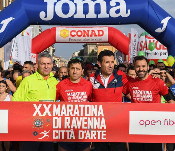 Il sindaco De Pascale: «la maratona ama Ravenna e Ravenna ama la maratona»