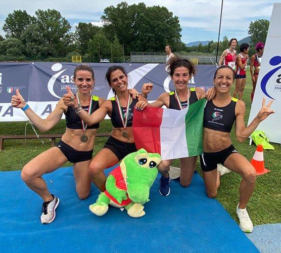 A Tivoli la 4X400 Master donne dell'Atletica Endas Cesena conquista il record italiano.