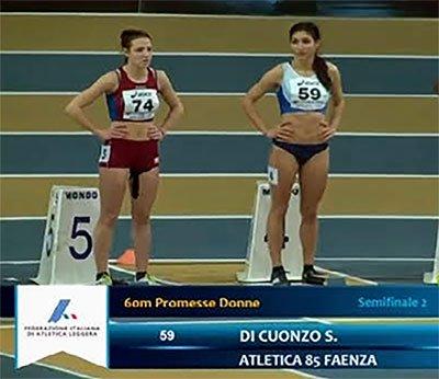 Stefania Di Cuonzo di Atletica 85 a testa alta ai campionati italiani indoor