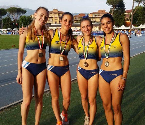 La staffetta 4x100 maschile Promesse ancora sul tutto d'Italia. Tanti i podi gialloblù di giornata