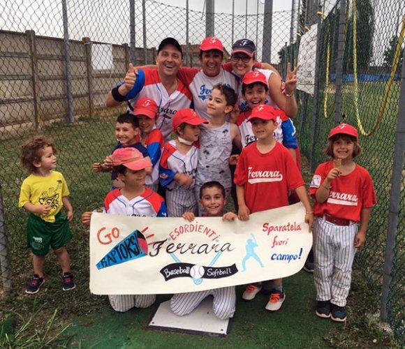 Ferrara baseball, contro Bologna trionfano gli esordienti