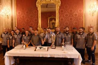 I campioni d'Europa della Fortitudo ricevuti in comune a Bologna