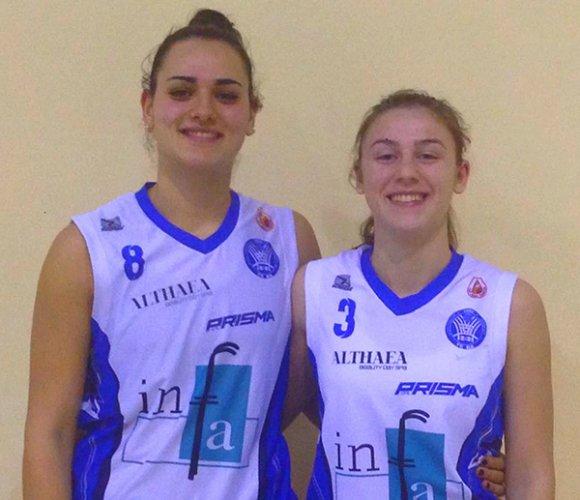 Giorgia Bocola ed Alessandra Orsili all'europeo under 18 femminile