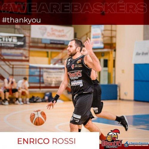 La società Baskérs Forlimpopoli comunica che l'atleta Enrico Rossi non farà' più parte del roster nella stagione sportiva alle porte.