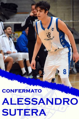 Polisportiva Nazareno Basket Carpi : Alessandro Sutera confermato  ‼️