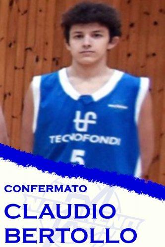 Polisportiva Nazareno Basket  Carpi : Confermato il classe 2003 Claudio Bertollo !!!