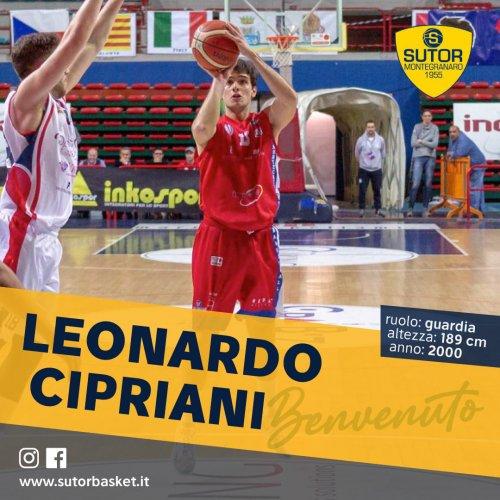 Leonardo Cipriani è la nuova guardia della Sutor Basket Montegranaro