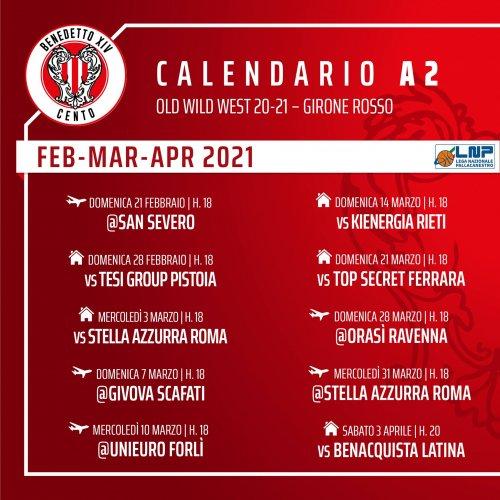 Tramec Cento vs Stella Azzurra, le date dei recuperi :  3  e 31 Marzo 2021
