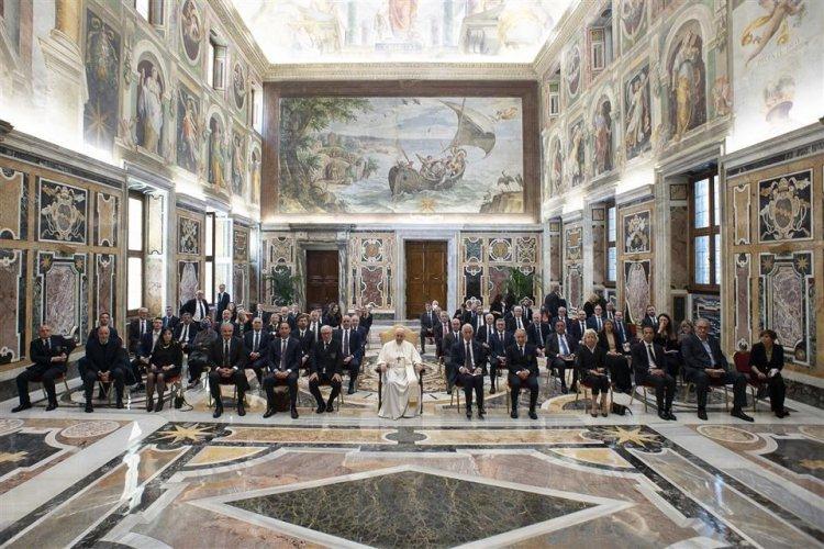 La FIP ricevuta da Papa Francesco.