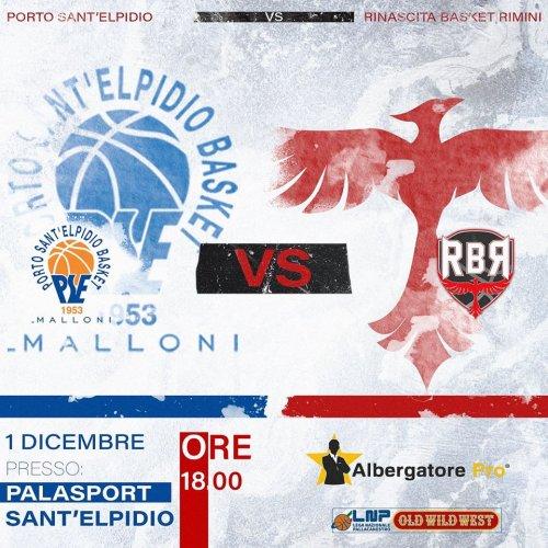 Next game : Albergatore Pro RBR vs Porto S. Elpidio Basket