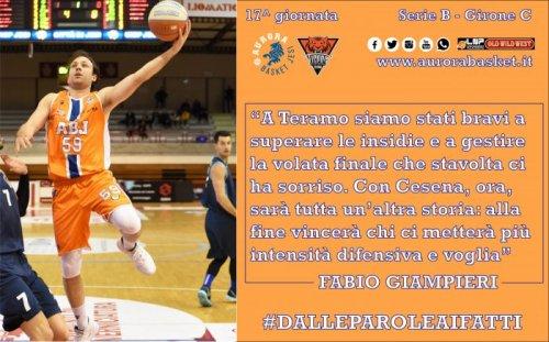 Che sfida per l'Aurora Basket Jesi : all'UBI Banca Sport Center , arriva Cesena.
