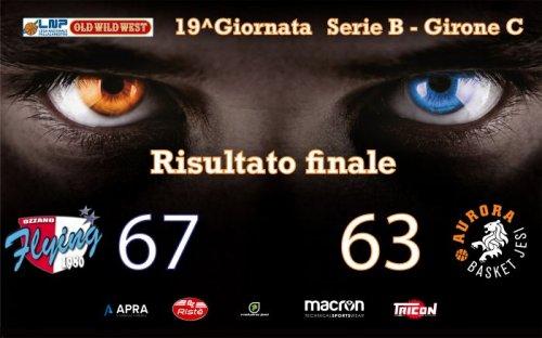 Sinermatic Ozzano - Aurora Basket Jesi 67-63 (14-19, 22-16, 18-17, 13-11)