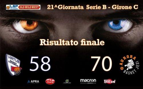 Rossella Virtus Civitanova Marche - Aurora Basket Jesi 58-70 (16-13, 9-20, 14-16, 19-21)