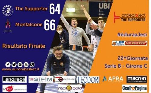 The Supporter Jesi - Pontoni Falconstar Monfalcone 64-66 (21-14, 11-26, 12-14, 20-12)