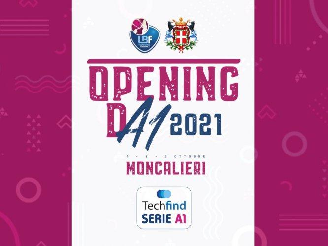 A1 Femminile - Moncalieri sarà la sede del 19º Opening Day, dall'1 al 3 ottobre