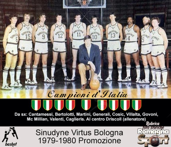 FOTO STORICHE - Sinudyne Virtus Bologna 1979-80