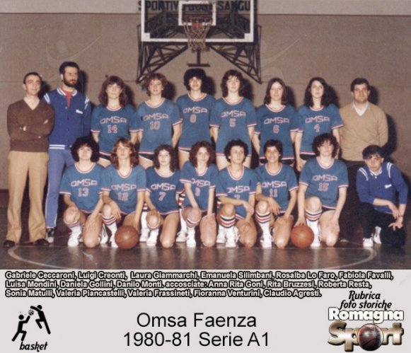 FOTO STORICHE - Omsa Faenza 1980-81