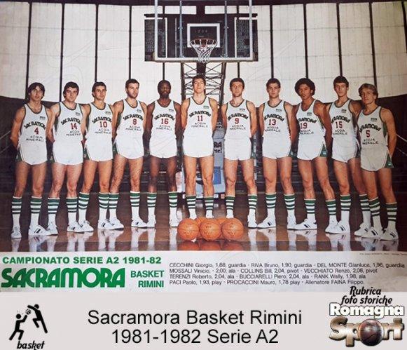 FOTO STORICHE - Sacramora Rimini 1981-82