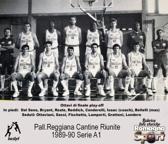 FOTO STORICHE - Pallacanestro Reggiana Cantine Riunite 1989-90