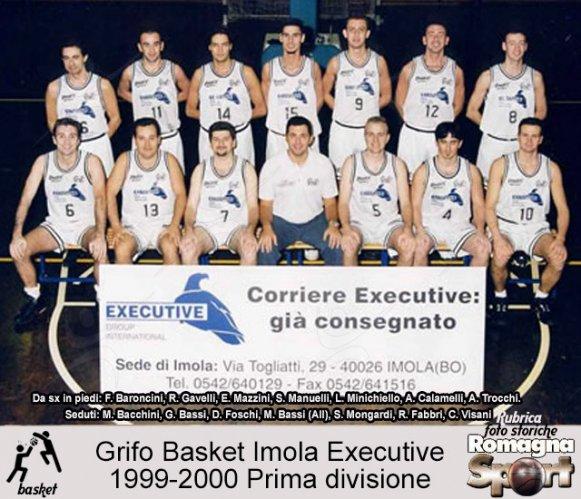 FOTO STORICHE - Grifo Basket Imola Executive 1999-2000