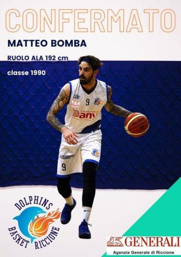 Dolphins Basket Riccione : confermato Matteo Bomba