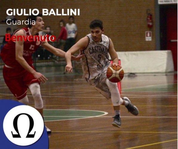 Omega Basket Bologna : Benvenuto Giulio Ballini !