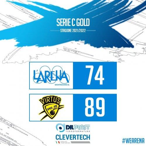 Basket L'Arena Montecchio E.  vs Virtus Intech Imola  74 - 89