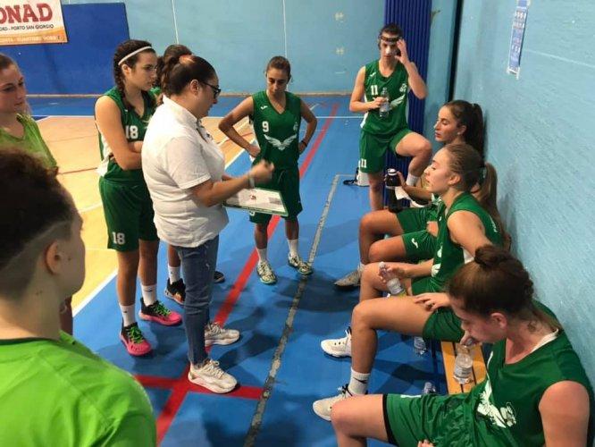 Porto San Giorgio Basket  - Serata amara al debutto casalingo per le ragazze del duo Ficiarà Fidani