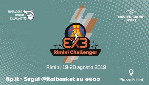 Il grande basket internazionale 3x3 a Rimini, 19-20 agosto