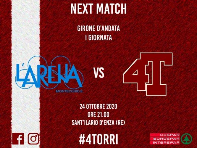 Match preview: Dilplast Clevertech Basket L'Arena Montecchio E. - Despar 4 Torri Ferrara