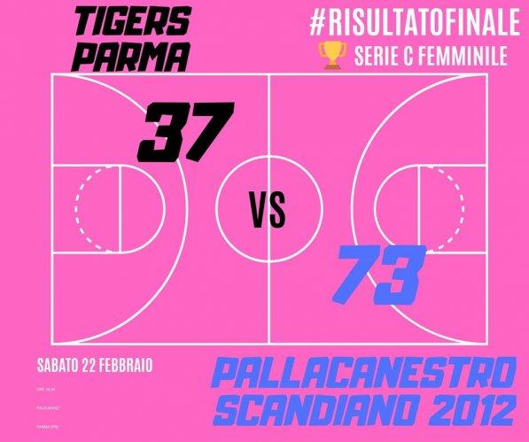 Tigers Parma B  - Pallacanestro Scandiano 2012    37 - 73